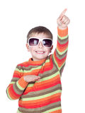 Funny child with sunglasses Stock Image