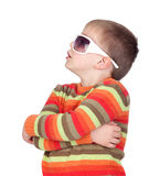 Funny child with sunglasses Royalty Free Stock Photos