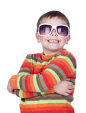 Funny child with sunglasses Royalty Free Stock Images