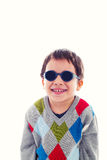 Funny child with sunglasses Royalty Free Stock Image