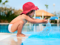 Funny child in sunhat Royalty Free Stock Photography