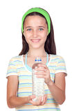 Funny child with water bottle Stock Images