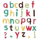 Funny childish alphabet. Isolated on white Royalty Free Stock Photos