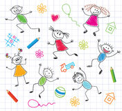 Funny Children. Colorful Background. royalty free illustration