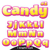 Funny children's candy letters set. Latin uppercase and lowercase Stock Images