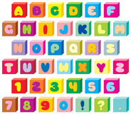 Funny children's font 02 Royalty Free Stock Image