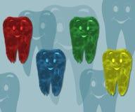 Funny children's teeth Stock Image