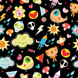 Funny Children Seamless Pattern Royalty Free Stock Image