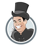 Funny chimney sweeper stock photo