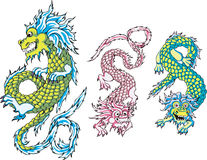 Funny chinese dragons Stock Image