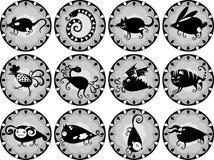 Funny Chinese horoscope Royalty Free Stock Images