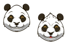 Funny chinese panda bear mascot Royalty Free Stock Photos