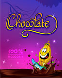 Funny chocolate vector design Stock Images
