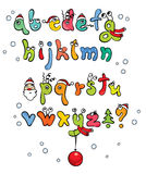 Funny Christmas Alphabet Stock Image