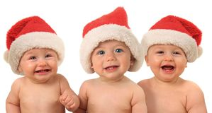 Funny Christmas babies Stock Photography