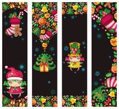 Funny christmas banners stock illustration