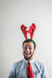 Funny christmas business man Stock Photo