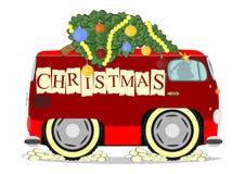 Funny christmas car Stock Photos