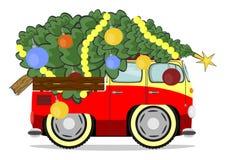 Funny christmas car Stock Photo