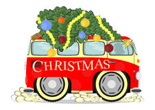 Funny christmas car Royalty Free Stock Photos