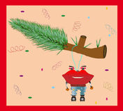 Funny Christmas Card Stock Images