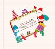 Funny christmas card Royalty Free Stock Photo