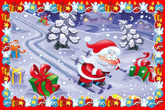 Funny Christmas card stock illustration