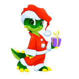 Funny Christmas cartoon character stock image