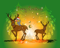Funny christmas cartoon Royalty Free Stock Image