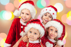 Funny christmas children Stock Photo