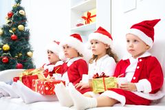Funny christmas company Stock Images