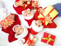 Funny christmas company Royalty Free Stock Photos