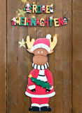 Funny christmas decoration. Reindeer and german text merry christmas stock illustration