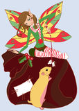 Funny christmas fairy. Vector illustration Royalty Free Stock Image