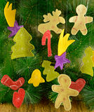 Funny Christmas figures 1 Stock Photo