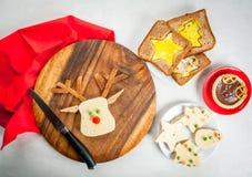 Funny Christmas food for kids Stock Photo