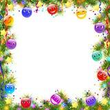 Funny christmas frame Royalty Free Stock Image