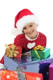 Funny christmas girl Stock Image