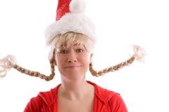 Funny christmas girl Stock Image