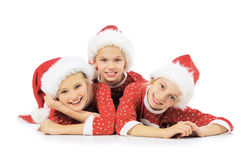 Funny christmas girls Royalty Free Stock Image