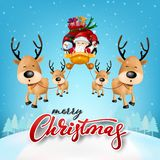 Weihnachtsgrüße Funny.Santa Claus Cartoon Character Vector And Illustration Stock Vector