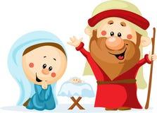 Funny Christmas Nativity Scene Royalty Free Stock Photos