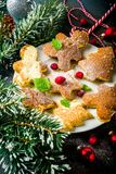 Funny christmas pancakes stock images