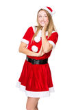 Funny Christmas party girl Royalty Free Stock Image