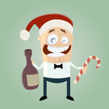 Funny christmas party man Stock Image