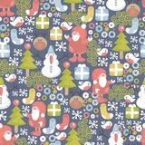 Funny Christmas pattern. Stock Image