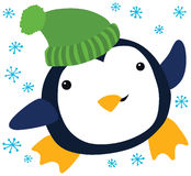 Funny Christmas Penguin Royalty Free Stock Images