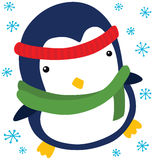 Funny Christmas Penguin Royalty Free Stock Photos