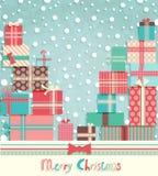 Funny Christmas postcard Royalty Free Stock Image