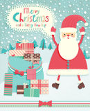Funny Christmas postcard Royalty Free Stock Image